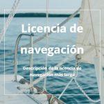 curso licencia de navegacion